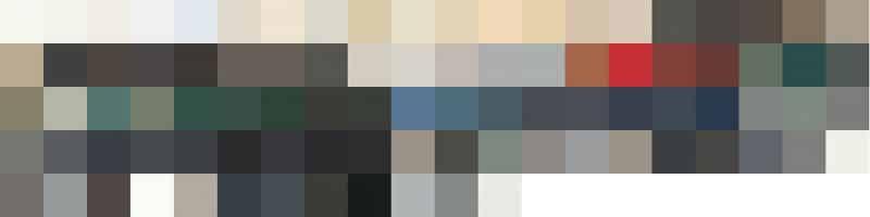 The Dulux Duralloy range of powder coating colours