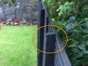Side-mounted fence