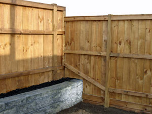 Fence with planter box